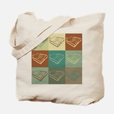 Teaching the Visually Impaired Pop Art Tote Bag