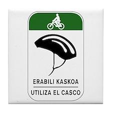 Use The Helmet, Spain Tile Coaster