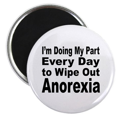 """Anorexia Anti Diet 2.25"""" Magnet (10 pack)"""