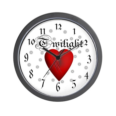 Sparkling Twilight Scratched Heart Wall Clock