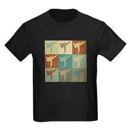 Tae Kwan Do Pop Art Kids Dark T-Shirt