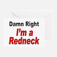 Redneck Damn Right Greeting Cards (Pk of 10)