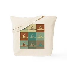 Swimming Pop Art Tote Bag