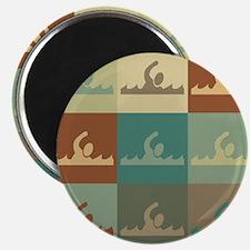 Swimming Pop Art Magnet
