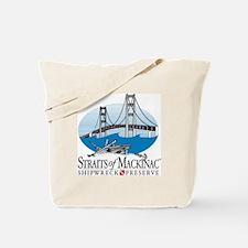 Mackinac Bridge logo Tote Bag