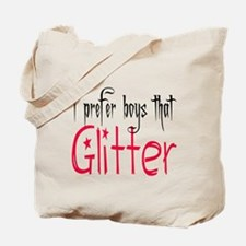 Prefer boys that Glitter Tote Bag