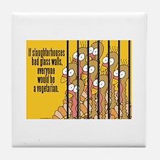 Vegetarian Vegan Tile Coaster
