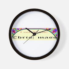 Christ mass Wall Clock