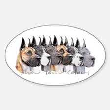 Great Dane Group Show Colors Oval Decal