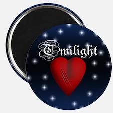 Sparkling Twilight Scratched Heart Magnet