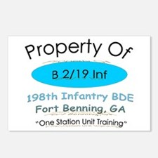 Funny One station unit training Postcards (Package of 8)
