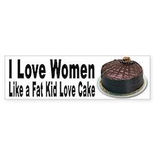 I Love Women Bumper Sticker for Men and Boys