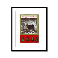 Enjoy Your Holiday! by Khonce Framed Panel Print