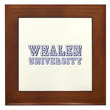 Whalen last Name University Framed Tile