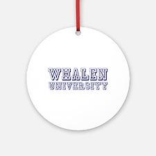 Whalen last Name University Ornament (Round)