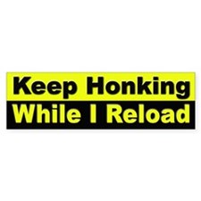 Keep Honking Bumper Sticker for Drivers