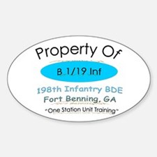 Prop of B 1/19 Oval Decal
