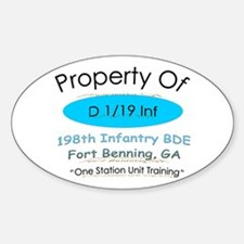Prop of D 1/19 Oval Decal