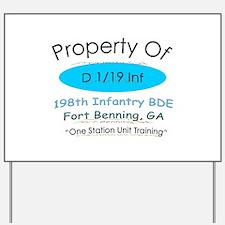 Prop of D 1/19 Yard Sign