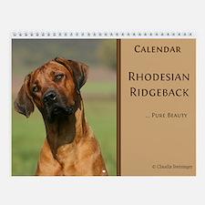 Rhodesian Ridgeback Wall Calendar