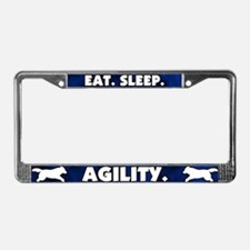 Eat Sleep Agility License Plate Frame (Dark Blue)