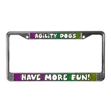 More Fun Agility License Plate Frame