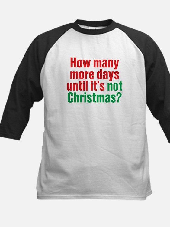 Not Christmas Kids Baseball Jersey