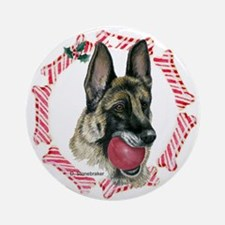 German Shepherd Xmas Ornament (Round)