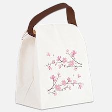 Cute Blossom Canvas Lunch Bag