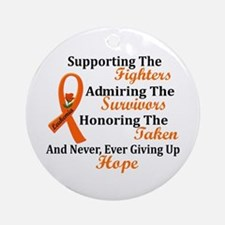 Supporting Admiring Honoring 2 LEUKEMIA Ornament (