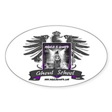 Ghoul School (Gray) Oval Decal