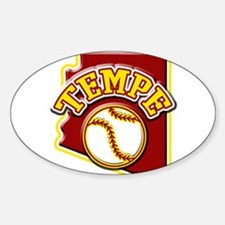 Tempe Baseball Oval Decal