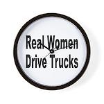 Real Women Drive Trucks Wall Clock