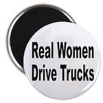 Real Women Drive Trucks Magnet