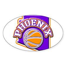 Phoenix Basketball Oval Decal