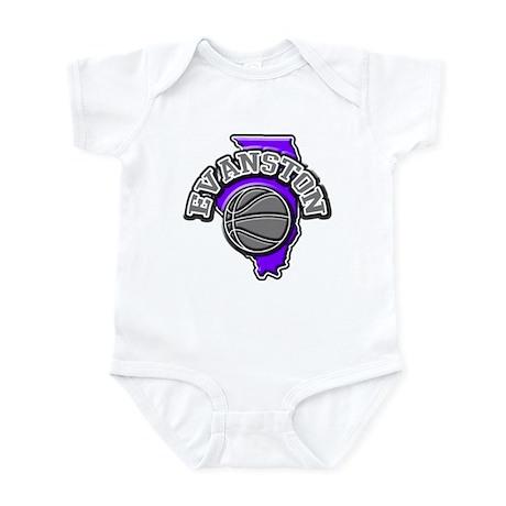 Evanston Basketball Infant Bodysuit