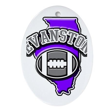 Evanston Football Oval Ornament