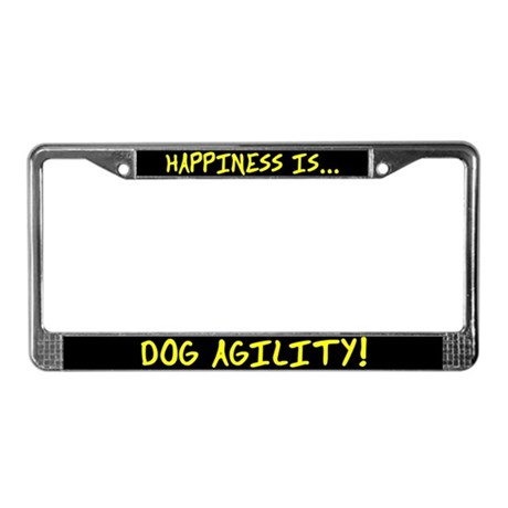 Happiness is Dog Agility License Plate Frame