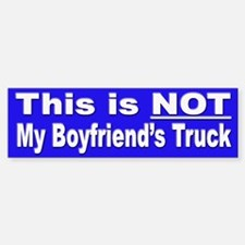 This MY Truck Bumper Sticker for Women Truckers