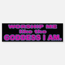Girl Goddess Bumper Sticker for Women