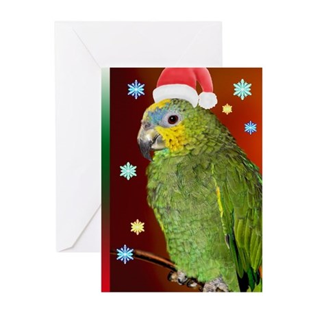 Santa Parrot Greeting Cards (Pk of 10)