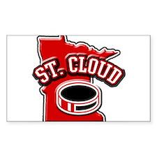 St. Cloud Hockey Rectangle Decal