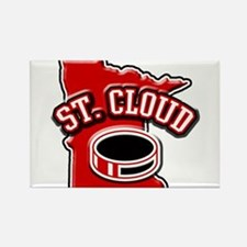 St. Cloud Hockey Rectangle Magnet