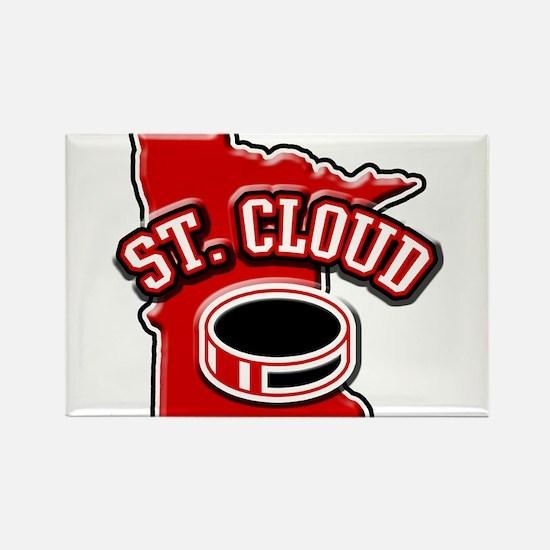 St. Cloud Hockey Rectangle Magnet