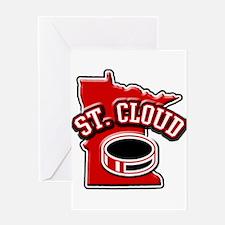 St. Cloud Hockey Greeting Card