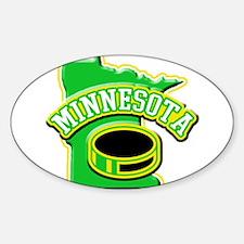 Minnesota Hockey Oval Decal