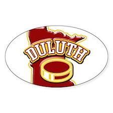 Duluth Hockey Oval Decal