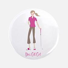 """Pink Diva Golf - 3.5"""" Button"""