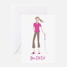 Diva Golf Girl- Greeting Card