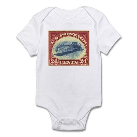 US stamp 24c Inverted Jenny baby onesie